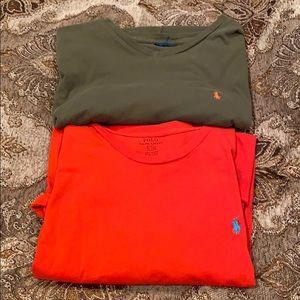 Two Polo Ralph Lauren short sleeve t shirts!